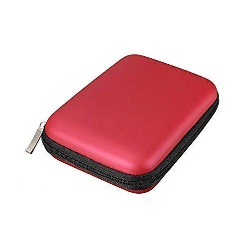 Preisvergleich Produktbild FORTAG Hardcase Tasche für externe Festplatte 2,5 Zoll Schutzhülle in Rot