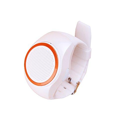 NS orologio da polso modellano il mini altoparlante Bluetooth portatile indossabile / mani libere di chiamata / carta di TF di sostegno NS-B20S (bianco)
