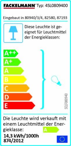 FACKELMANN Spiegelschrank Kara/inklusive Leuchtstoffröhre 13 Watt/Maße (B x H x T) ca. 80x70x23 / Möbel fürs WC oder Badezimmer/Korpus: Anthrazit/Front: Spiegel / 3 Türen / 6 Glasböden