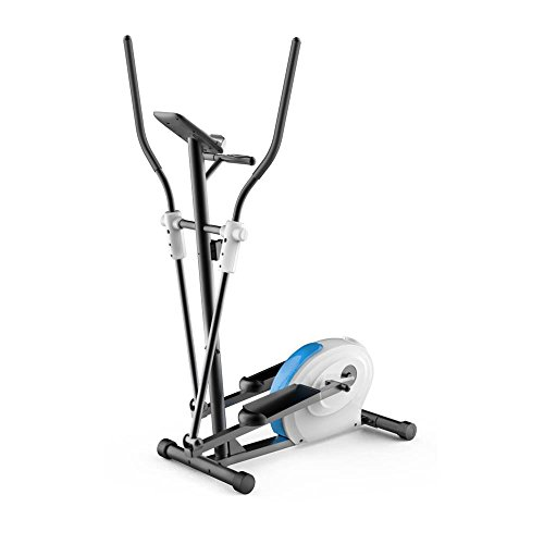 SereneLife Elliptical Exercise Bike - Upright Bicycle Full Body Flywheel Pedal Trainer Fitness Machine Equipment w/ Tray for Workout, Weight Loss, Fitness & Health at Home & Office(SLXB5)
