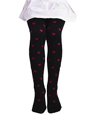 Las Niñas Leggings Pantalones De Los Niños, BBsmile NiñAs Footed CorazóN Dots Medias Ballet Dulces Colores Opacos...