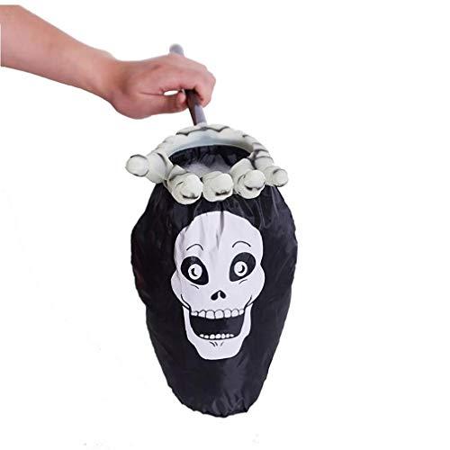 VlugTXcJ 1PCS Halloween Süßigkeiten Props Palmar Candy Bag Luminous Wiederverwendbare Durable Bearbeiteter Tasche Innovative Trick Or Treat Goody Bag Skeleton