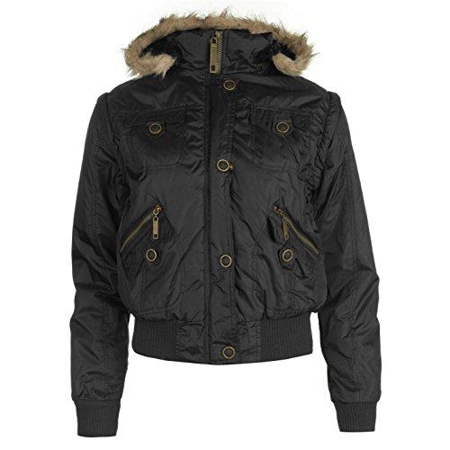 Lee Cooper Giacca e Gilet Combo Nero da donna giacca cappotto gilet, Black, UK8 (XSmall)