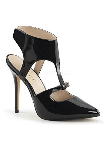 Pleaser AMUSE-19, Scarpe con cinturino alla caviglia donna Blk Pat