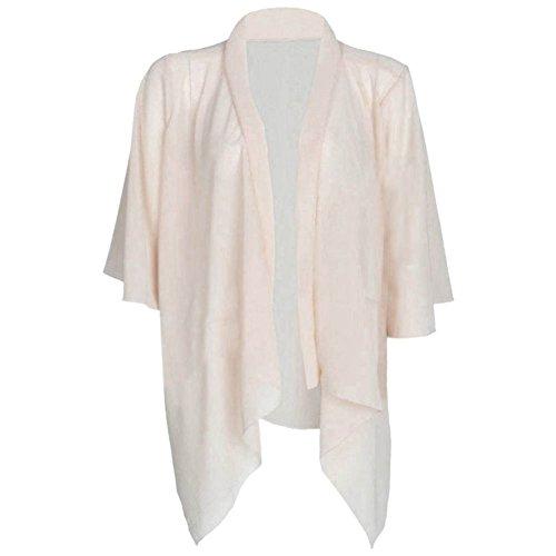 Ladies Open Floaty Draped Chiffon Kimono Waterfall Cardiigan EUR Taille 36-54 Nu
