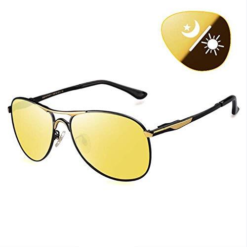 BAIF Sonnenbrillen Polarisierende Sonnenbrillen für Erwachsene Tag und Nacht Fahren. Men 'S Discolored Night Vision Fahrer Fahren in der Nacht (Nacht-vision-brille Erwachsene Für)