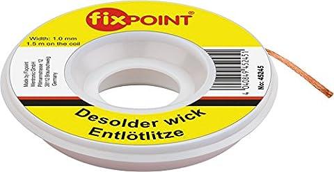Fixpoint Entlötlitze 1mm zur Entfernung von Lötzinn An Lötstellen 1,5M, 1 Stück, 45245