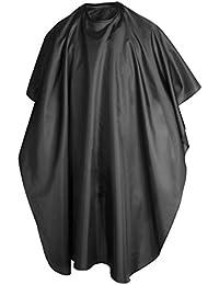 TRIXES Capa de Peluquería/Barbería Negra para Adultos; Salón de Belleza; Corte; Tinte; Mechas