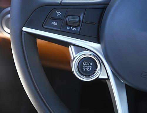 ABS Matte Interieur Start Motor Stop Cover Trim für Giulia Stelvio 2017-2019