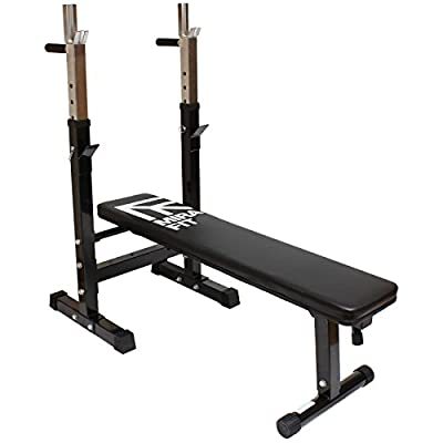 MiraFit Adjustable Folding Weight Bench with Dip Station from MiraFit