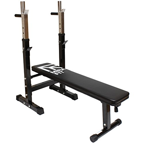 Mirafit Adjustable Folding Weight Bench with Dip Station