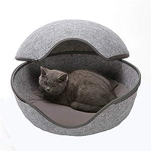 Alle Katzennester werden mit einem kuschelweichen Innenkissen geliefert.  Das Katzennest eignet sich auch hervorragend für große Katzenrassen, wie Maine Coon oder Norwegische Waldkatzen. Sehr viel Schutz und Geborgenheit spendet sie auch Katzenmütter...