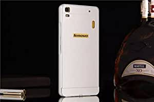 Lenovo A7000 case, Ziaon Aluminum Metal Bumper Frame Case with Acrylic Back Cover for Lenovo A7000 - Silver