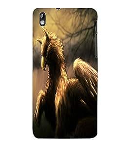 ColourCraft Fantasy Animal Design Back Case Cover for HTC DESIRE 816