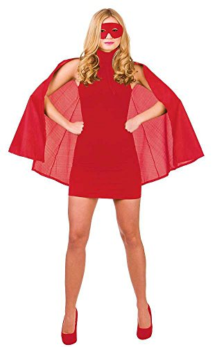 Rotes Superhero Fancy Dress Cape und Maske
