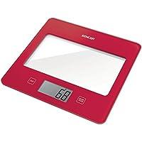 Sencor 41000755 SKS 5024RD - Báscula de cocina, color rojo