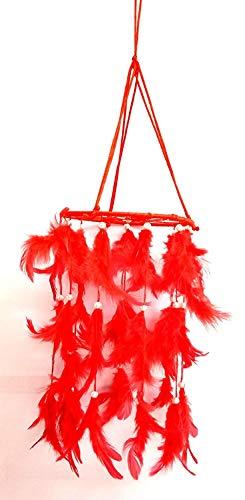 Design Traumfänger, zum Aufhängen an die Wand, zieht positive Träume an 35x15 cm rot ()