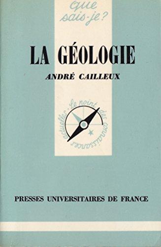 La Géologie (Que sais-je)