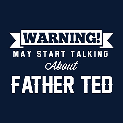 Coto7 Warning May Start Talking About Father Ted Women's Vest Navy blue