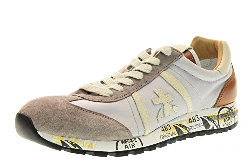 PREMIATA chaussures hommes baskets basses LUCY 1984 Beige / Cuoio
