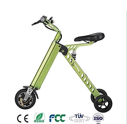 Natood Electric Three-Wheel Electric Car Foldable Mini Models Mountain Electric Bike Electric Skateboard Maximum Speed: 20km / H Maximum Range: 25km , green