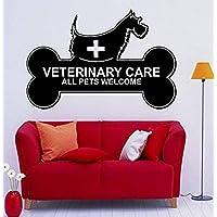 Dalxsh Peluquería Salón Pared de vinilo Perros Cuidado veterinario Todos los animales Clínica de bienvenida Etiqueta