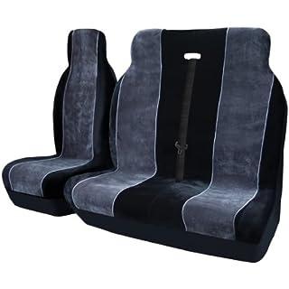 Automs ASLUYYX911164Luxuriöse Van-Sitzbezüge, 2+ 1, für Rechtslenker, Schwarz / Grau