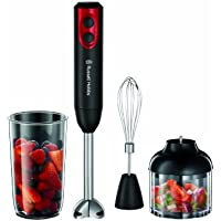 Russell Hobbs Desire 3-in-1 Hand Blender 18980, 400 W - Black and Red