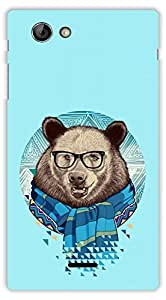 Crazy Beta BEAR WITH SPECTS 3D DESIGN Printed Back Cover For Sony Xperia J