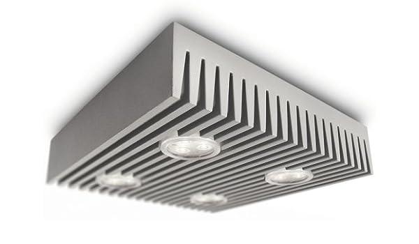 Philips Ledino 316033116 LED Deckenleuchte, Aluminium