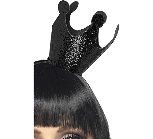 Böse Königin Krone, Schwarz (Königin Regina Kostüme)