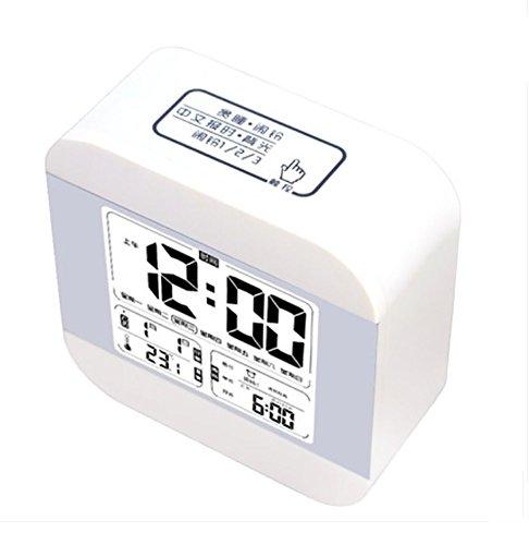 RUIX Termohigrómetro Medidor Reloj Despertador Musical