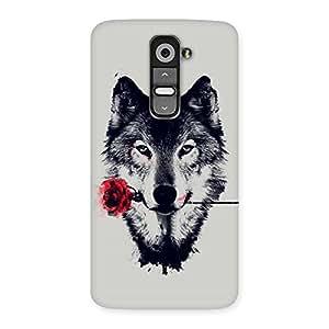 Impressive Rose Wolf Multicolor Back Case Cover for LG G2