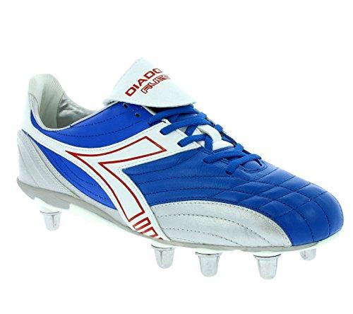 Diadora Rugby Low SC 8 Schuhe Herren Echtleder Rugby-Schuhe Sportschuhe Blau 145239 01 C1967