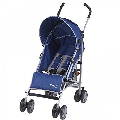 poupy, Pushchair with Recliner, Blue