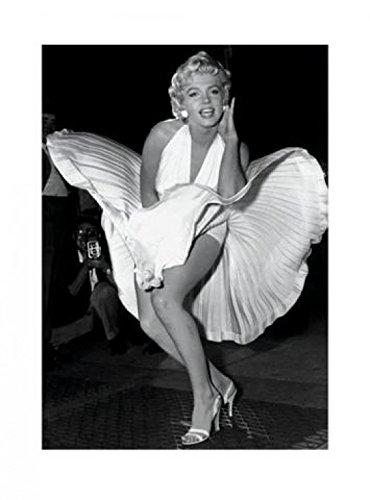 1art1 41214 Marilyn Monroe - Das Verflixte 7. Jahr, Weißes Kleid Poster Kunstdruck 80 x 60 cm