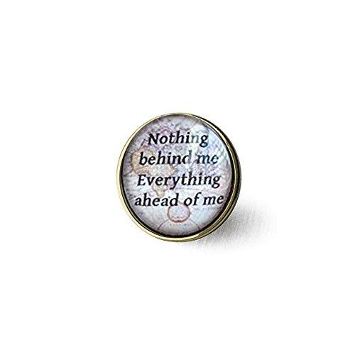 rosche, On The Road Zitat, nichts Hinter Mir Alles Ahead von mir, Karte Brosche, inspirierende Schmuck, Zitat jewelryul Geschenk ()