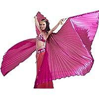 Dance Fairy Danza del Vientre Alas de ISIS Apertura Accesorios de Carnaval con Palos/Barras,Rosa