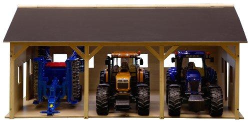 Kids Globe - 610340 - Bâtiment de Ferme pour 3 Tracteurs - 55 x 77 x 38 cm