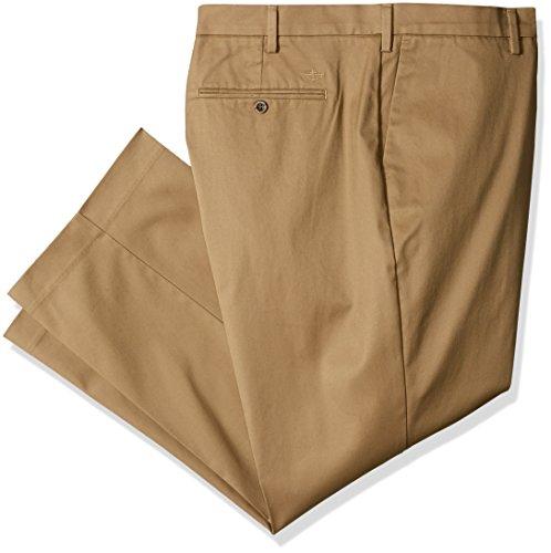Dockers Men's Big-tall Big & Tall Iron Free Khaki Pant, Dark Wheat, 34 38 (Khaki Big And Tall)