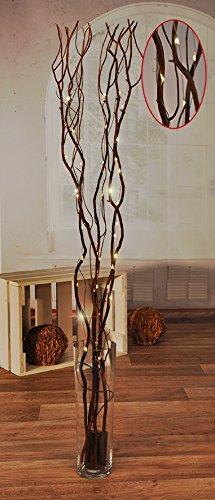 Meinposten Lichterzweig 100 cm braun Lichterkette 45 warm LED Kupferlichterkette mit Timer -