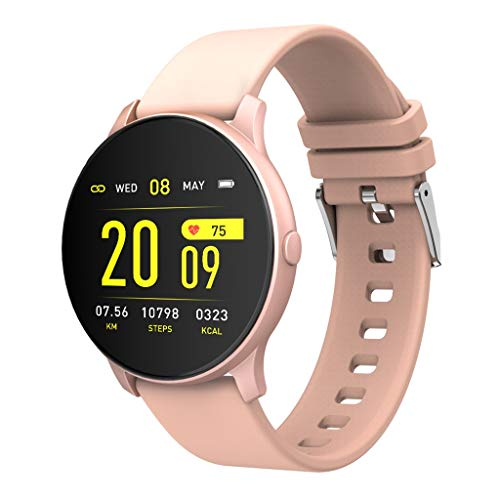 Hffan Bluetooth Smartwatch Damen Fitness Tracker Uhr mit Pulsuhr Wasserdicht IP68 Schwimmen Blutdruckmessung Schlafmonitor Armband für Android iOS