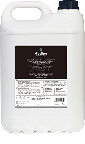 D\'Bullón Gel Conductor para uso profesional (ultrasonidos, electroterapia,etc). Alta eficacia - 5000 ml