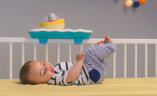 Image of Taf Toys 3 in 1 Musical Boat Cot Toy and Soother