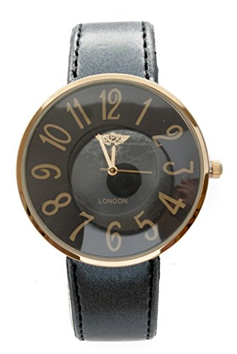 ny-london-ladies-slim-design-watch-black-gold-tone-highlight-large-coloured-face-matching-faux-leath