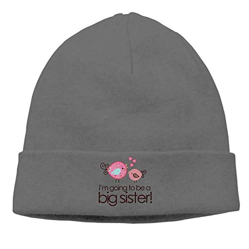 Mens I'm Going to Be Big Sister Whimsy Bird Toddler Warm Skiing DeepHeather Beanies Cap