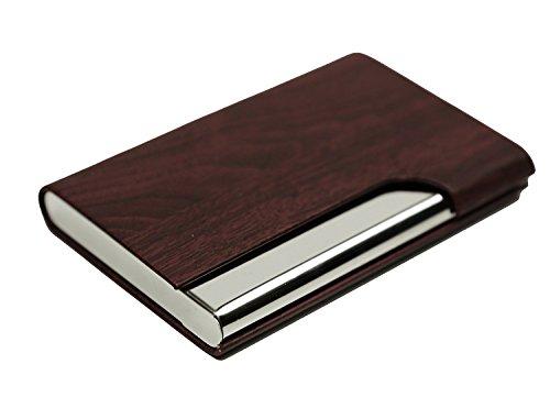 sheltons Pocket Business Card Case Edelstahl einer Sekunde Open Card Fall Unisex Kein Bücken-Card 11Farben optional rot Pocket Card Case