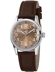 Esprit Jungen-Armbanduhr Little Axis Brown Analog Quarz Leder