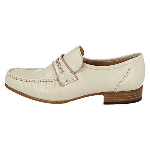Herren GRENSON Schuhe, Leder, 3Farben. Dermot Elfenbein