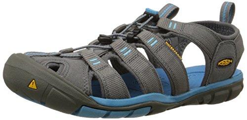 Keen Clearwater CNX, Damen Sandalen Trekking- & Wanderschuhe, Grau (Gargoyle/Norse Blue), 41 EU (8 Damen UK) - Sandale Gepäck